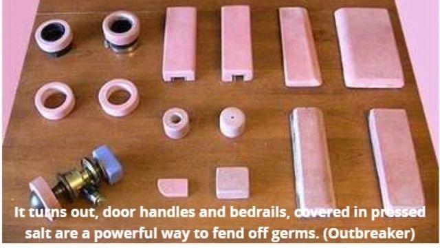 Salt covered door handles